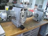 Moteur en cours de montage puis en cours de câblage, ce moteur est le plus compact possible.